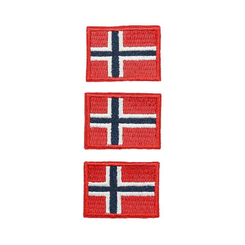 Emblem brodert norsk flagg